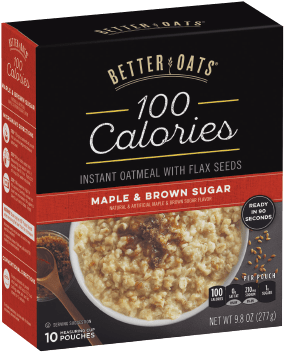 Better Oats® 100 Calorie Maple & Brown Sugar