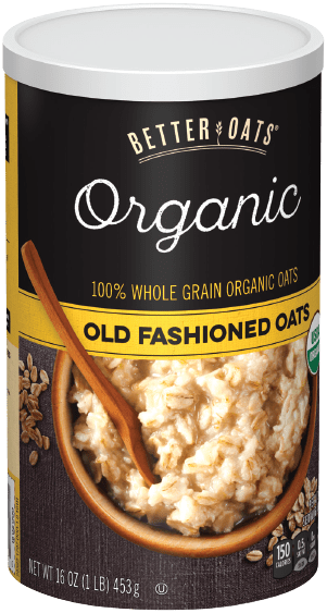 Packaging of Better Oats Organic Old Fashioned Oats