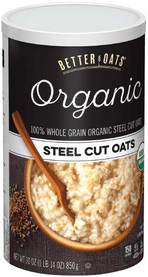 Better Oats® Organic Steel Cut Oats