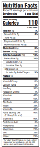 Nutrition Info for Bran Flakes