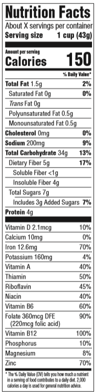 Grape Nuts nutrition facts