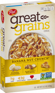Great Grains Banana Nut Crunch Cereal Box