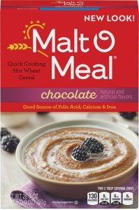 Packaging of Malt-O-Meal Chocolate Hot Wheat