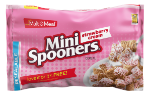 Strawberry Cream Mini Spooners cereal packaging