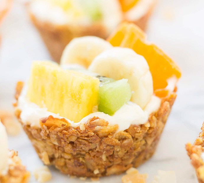 Honey Bunches of Oats tropical granola cups recipe