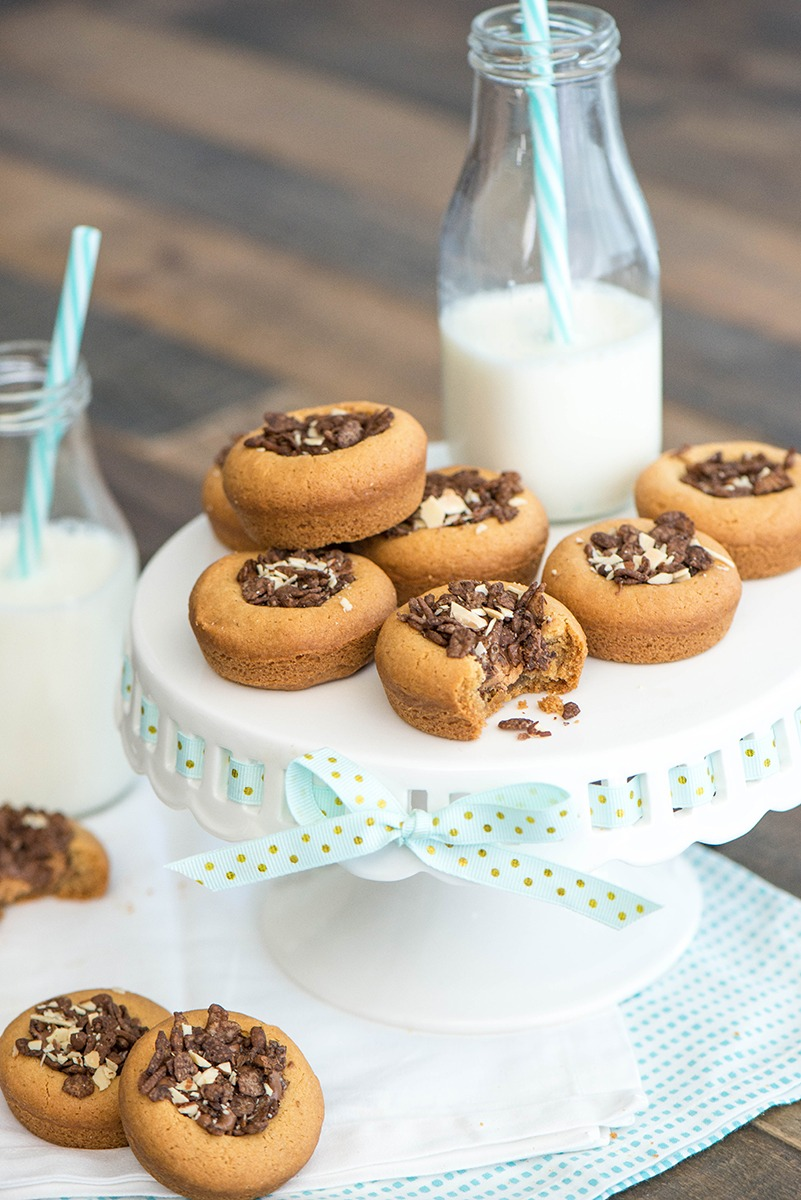 PEBBLES™ peanut butter and chocolate cookie cups recipe