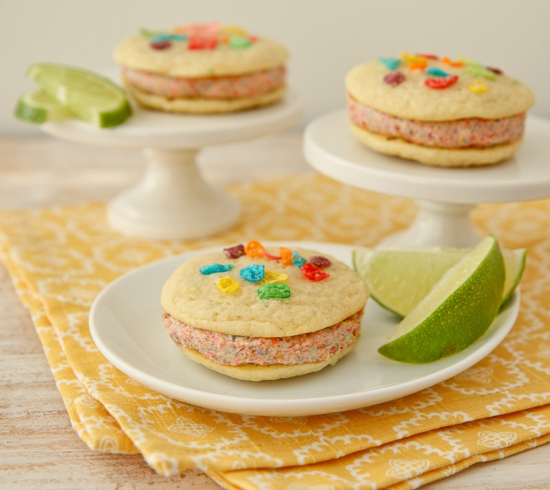 Fruity PEBBLES™ coconut lime whoopie pies recipe