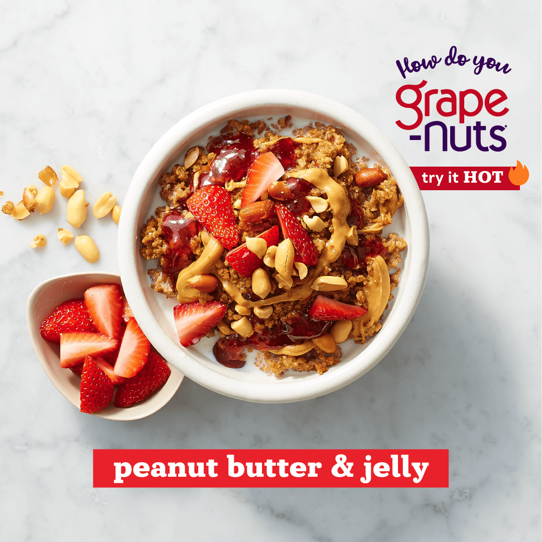 Grape Nuts Cereal Hot Recipe Peanut Butter and Jelly