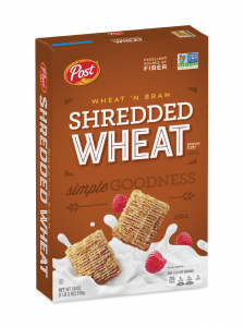 What N Bran Shredded Wheat Cereal Box