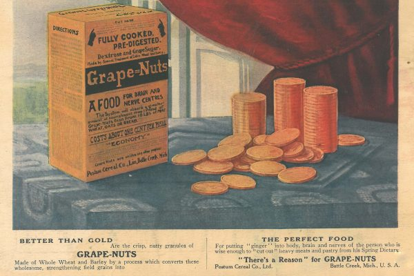 old Grape Nuts cereal launch in 1897