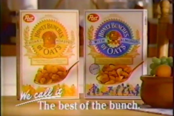 Post Honey Bunches of Oats cereal is introduced in 1989