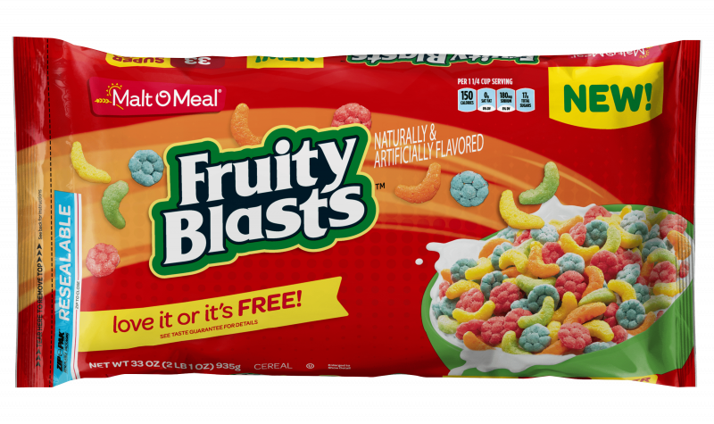 Malt-O-Meal Fruity Blasts cereal