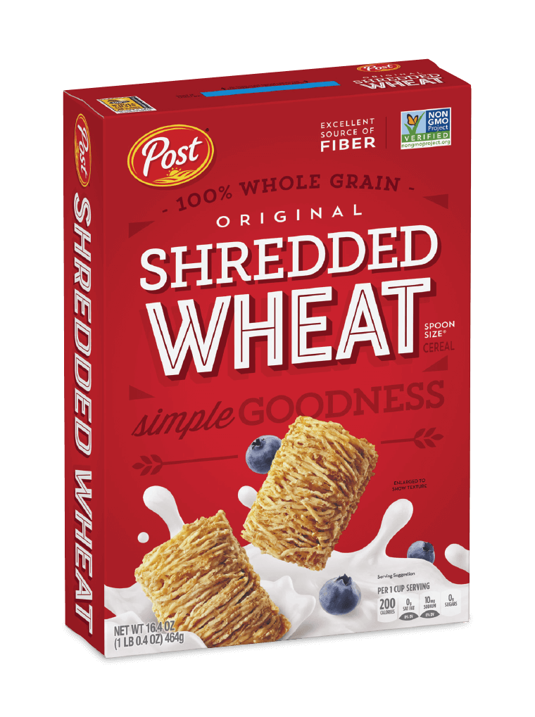 Post Shredded Wheat Original Spoon Size cereal box
